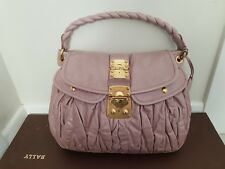 4a53f12427d Miu Miu Matelasse Luv Nappa Coffer Hobo Handbag in Mughetto SS 2010