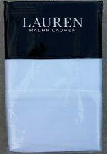 Lauren Ralph Lauren Dunham Sateen Cotton Pillowcase Set White 300 Thread Count