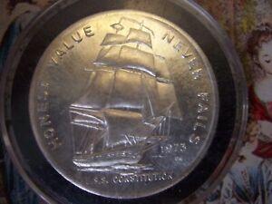 1 oz. vintage silver.999(T) 1973 USS Constitution Round