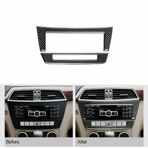 Carbon Fiber Interior CD Panel Cover For Mercedes-Benz C Class W204 2011-2013