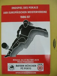 BAYERN MUNCHEN v FC PORTO 1987 EUROPEN CUP FINAL
