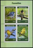 Chad 2019 MNH Warblers Warbler 4v M/S Fauvettes Birds Stamps