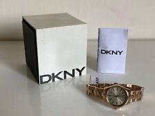 NEW! DKNY DONNA KARAN ELDRIDGE ROSE GOLD DIAL STAINLESS STEEL WATCH NY2524 $175