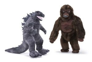 BRAND NEW NEW OFFICIAL GODZILLA VS KING KONG PLUSH SOFT TOY 12INCHES