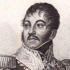Général Jean Rapp NAPOLEON Bonaparte Premier EMPIRE 1818 Colmar Alsace