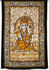Jaipur Printed Indian Lord Ganesha Twin Wall Hanging Hippie Gypsy wall Tapestry