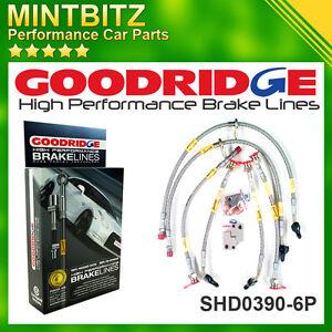 Honda Civic Type-R FK2/FN2/FK3 06- Zinc Plated Goodridge Brake Hoses SHD0390-6P