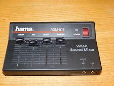 HAMA VSM-512 VIDEO SOUND MIXER camera AUDIO master MUSIC table de mixage PHOTOS