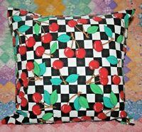 Mary Engelbreit Checks and Cherries Tablecloth Throw Pillow Cover Sham