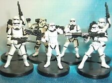 Star Wars Miniatures Lot  Elite Stormtrooper Evo Trooper Sandtrooper !!  s97