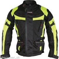Richa Ridge Jacket Motorcycle Motorbike Black / Fluo Yellow Jacket - £79.99