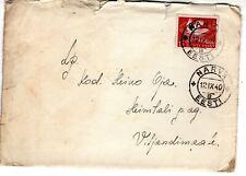 1940 NARVA  EESTI ESTONIA ESTONIAN VINTAGE COVER with STAMP
