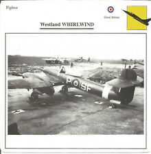 Westland WHIRLWIND Fighter Aeroplane Aircraft Photograph Collectors Card Q1091
