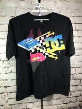 Vintage DC Graffiti Classic T-Shirt Black Tee - Size 2XL / XXL