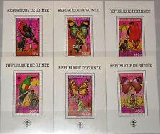 GUINEA 1988 Block 306-11 A Boy Scouts Butterflies Birds Fauna Schmetterlinge MNH
