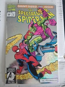 THE SPECTACULAR SPIDER-MAN #200 1993 GIANT-SIZED PRISM COVER GREEN GOBLIN VF