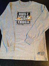 BNWOT Boys Sz 14-16 Genuine Mack Cool Grey Built Like A Mack Long Sleeve Top