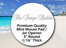 "50 Blank Mini Mouse Pads 5"" Round 1/16"" Mousepads Sublimation/HeatTransfer JAR50"