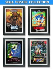 Sonic, Castle of Illusion, Altered Beast, Ghouls'N Ghosts, Game Poster (4) 13x19