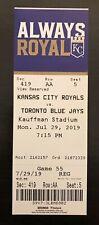 Bo Bichette MLB Debut Ticket Stub Toronto Blue Jays 7/29/2019 UNUSED Royals