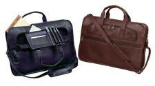 HARNESS COWHIDE LEATHER SLIM LIGHT Briefcase and Laptop Bag - Winn International