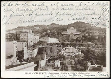 cartolina FRASCATI panorama scalea e villa aldobrandini