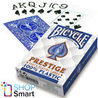 BICYCLE PRESTIGE PLAYING CARDS 100% PLASTIC DECK JUMBO INDEX BLUE POKER NEW