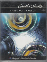 Agatha Christie Three Act Tragedy 4 Cassette Audio Book Unabridged FASTPOST