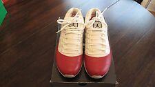 Mens Jordan Comfort Viz Air 11, Size 8.5, White/Black/Varsity Red