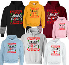 CHRISTMAS THINGS STRANGER THINGS CHRISTMAS JUMPERS UPSIDE DOWN 11 UNISEX HOODIES