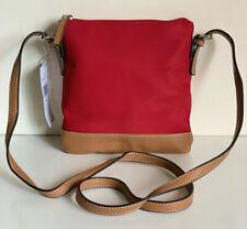 NEW! TOMMY HILFIGER RED MESSENGER CROSSBODY SLING BAG PURSE $69 SALE