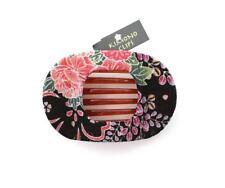 KIMONO CLIP by Annie Loto Silk Wide Clip Hair Jewelry Pink Multi Handmade #25