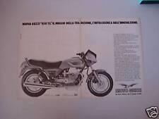 advertising Pubblicità DOPPIA 1983 MOTO GUZZI 850 T5