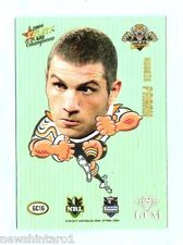 2008  WESTS TIGERS RUGBY LEAGUE STAR GEM CARD GC16  ROBBIE FARRAH