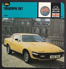 1975 TRIUMPH TR7 TR-7 Car History 1978 AUTO RALLY CARD