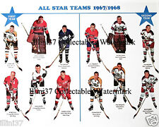 1967-68 BOBBY HULL STAN MIKITA GORDIE HOWE BOBBY ORR ALL STAR TEAM 8X10 PHOTO