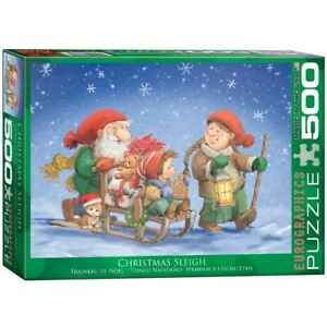 Christmas Sleigh Eurographics Jigsaw 500 Pieces Puzzle Brand New Sealed