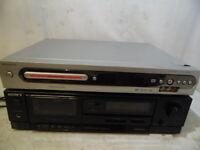 VTG Magnavox MRV640 CD Player DVD Recorder & Sony TC-FX110 Cassette Tape Player