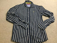 Scotch & Soda Mens Long Sleeve Striped Button Shirt Size Medium Regular Genuine
