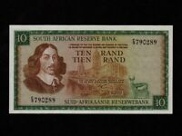 South Africa:P-113a,10 Rand,1966 * 1st sign* Jan van Riebeeck * UNC *
