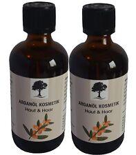 Arganöl Kosmetik ungerüstet kalt gepresst für Haut,Haare 200 ml 2 mal 100ml