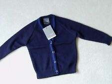 BNWT 100% Rowlinson Courtelle  V Neck Navy Buttoned Cardigan 24 inches
