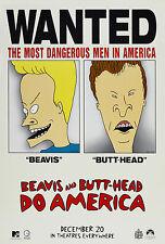 BEAVIS AND BUTT-HEAD DO AMERICA (1996) ORIGINAL ADVANCE MOVIE POSTER  -  ROLLED