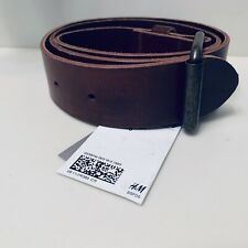 H&M Mens Leather Belt - NWT - Size 35-36 Inches EUR 90 Brown