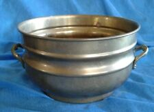 "Brass Planter Kettle Pot With Handles 7.5"" Vintage"
