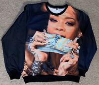 Rihanna Get Money Sweat Shirt $$ L & XL