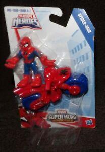 PLAYSKOOL 2014 MARVEL SUPER HERO ADVENTURES SPIDER-MAN WITH MOTORCYCLE