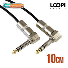 "10cm 1/4"" Stereo Right Angle 6.35mm Effect Patch TRS Lead - Van Damme Cable"