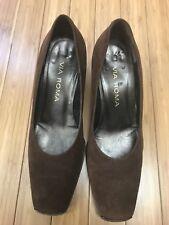 VIA ROMA Brown Suede shoes sz 37.5