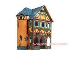 Building WEAVING WORKSHOP Medieval Town Terrain Scenery 3D Cardboard Model Kit